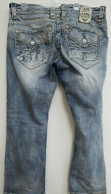 d8a9e3803d Rock Revival Chester Modelo Relaxed Straight 36 Waist Jeans 31 Inseam  Distressed