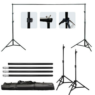 10Ft Adjustable Photography Background Support Stand Photo Studio Backdrop Kit