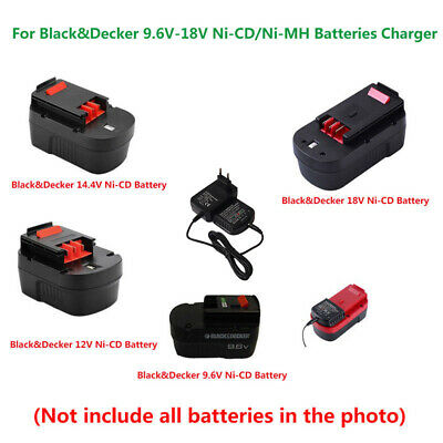Black&Decker 9.6V-18V A18 HPB12 Ni-Cd/Ni-MH Battery Charger (100V-240V EU PLUG)