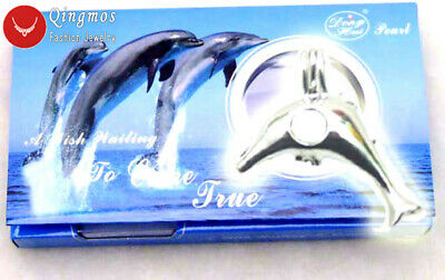 Christmas Gift One Box Dolphin Pendant Necklace for Women Oyster Wish Pearl Box