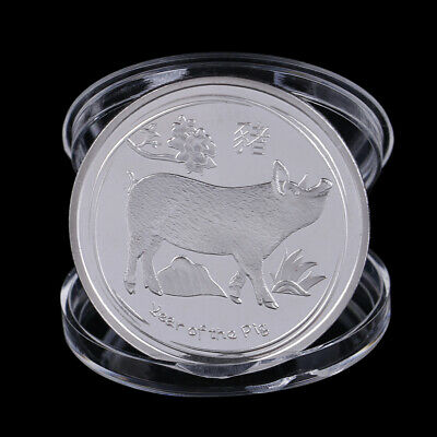 Year Of The Pig Commemorative Coin Chinese Zodiac Collection Coin Lucky Gi GF
