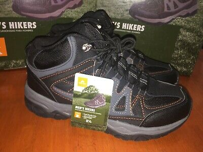 098f8b154ca OZARK TRAIL MEN'S Hikers Boots Mid Leather Waterproof Vented Sizes ...
