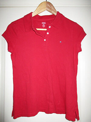girls 16 years of age TOMMY HILFIGER RED COTTON POLO SHORT SIZE XL 16 years
