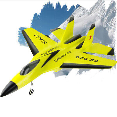 Yellow RC FX-820 Drone Glider Plane Airplane Remote Control Aircraft Model 2.4G