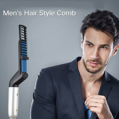 AU NEW Quick Beard Comb Multifunctional For Men Hair Styler Straightener Curler