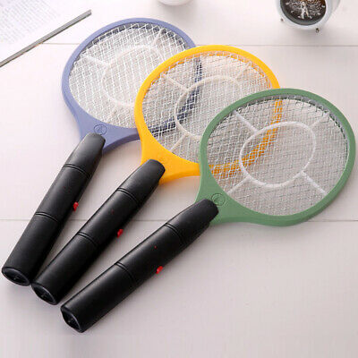 Battery Powered Bug Zapper Light Tennis Racket Mosquito Swatter Insect Killer AU