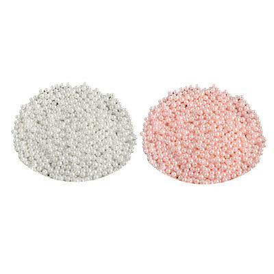 1000pcs 6mm DIY ABS Round Pearl Spacer Loose Beads Jewelry Making White&Pink