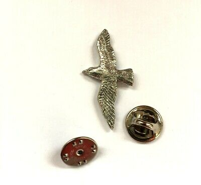 Seagull Badge Pin in UK Pewter with Gift Box Option - Seabirds Gifts Presents