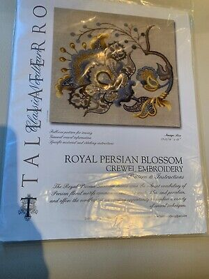 Taliaferro -Royal persian Blossom Crewel Embroidery Patterm