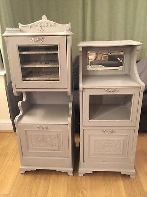 A Pair of Antique Up-cycled Hardwood Church Sheet Music Storage Cabinets
