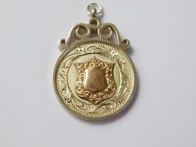 Vintage 925 Sterling Silver and 9ct Gold Plated Watch Fob