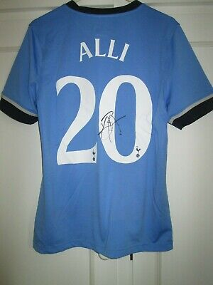 Dele Alli 2015-2016 Signed Tottenham Spurs Away Football Shirt with COA 44071