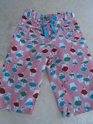 Mini Boden age 2 years cotton trousers elastic waist, pockets spring/summer