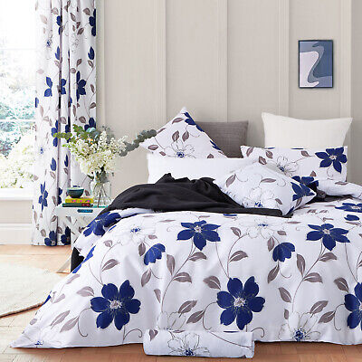 3 Piece Poly Cotton Duvet Cover Set With Pillow Case Mabel King Size Quilt Cover