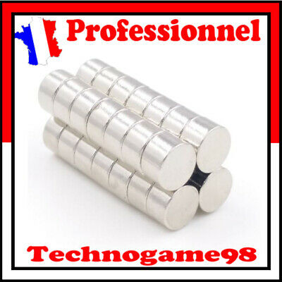 Lot 1 Aimant Neodyme Disque Rond Puissant Neodymium NdFeB Magnet 8mm x 5mm