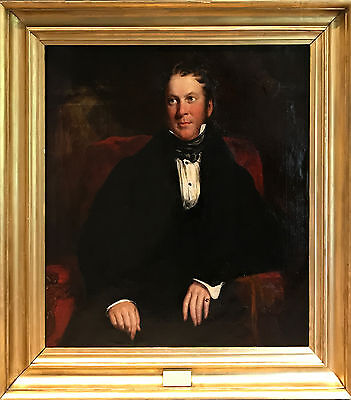 Large Antique 19th Century English school Oil Painting 'Portrait of a Gent'