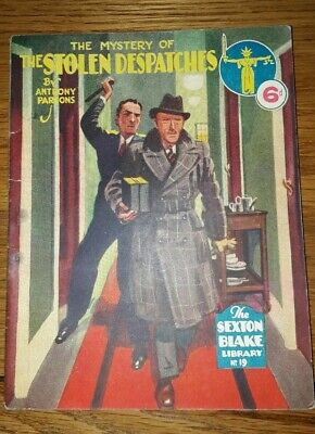 Sexton Blake Library No 19 (3rd Series Magazine Pulp War Detective Vintage Crime