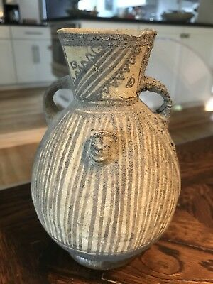 Ancient Antique Native American Indian CHANCAY pottery Bat Effigy POT vessel