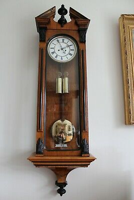 Austrian Antique Vienna Regulator Wall Clock