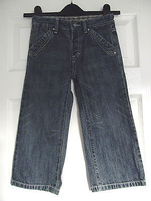 Ex John Lewis Childs Age 3, 98 cms Straight Leg Denim Jeans Blue
