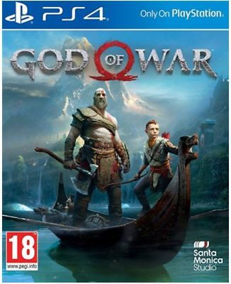 GOD OF WAR 2018 PS4 Game NEW SEALED KRATOS SPARTA UK PAL for Sony Playstation 4
