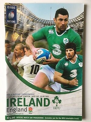 Ireland v England 2015 Ireland Championhip Winners Six Nations Programme Mint