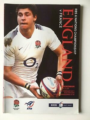 England v France 2011 Englands Championship Win Six Nations Programme Ben Youngs