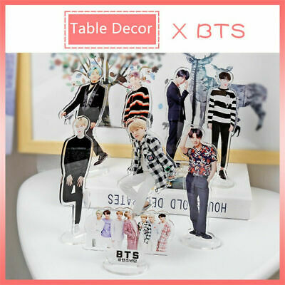 Kpop BTS Members Acrylic Standee Figure Doll Suga V Standing Action Table Decor