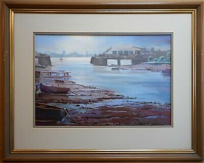 Barrow-in-Furness. Pastel by listed artist Christopher Assheton-Stones PS c1995