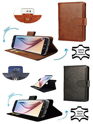 Premium Genuine Leather Mobile Phone Wallet Case Cover For Samsung Galaxy A20e 3