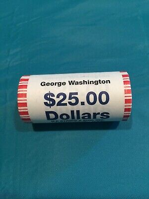 2007 George Washington Presidential Gold Dollar Roll 25 Coins