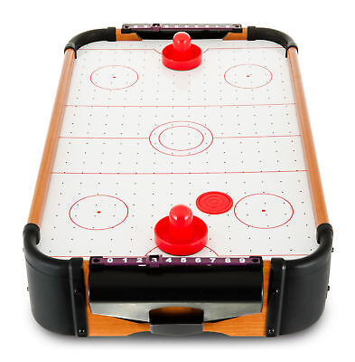 Air Hockey Mini Table Top Game Pushers Pucks Family Xmas Gift Arcade Toy Playset Indoor Games Sporting Goods