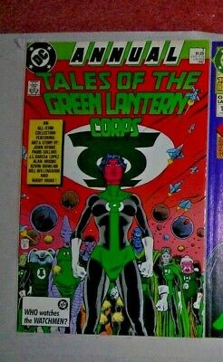 TALES OF THE GREEN LANTERN CORPS Annual 3 DC Comic JUL 1987 MOORE BYRNE G'LOPEZ