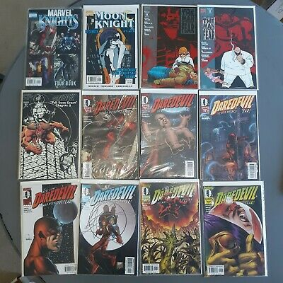 Marvel Comics Daredevil Man Without Fear Marvel Knights Comic Book Lot 16 books