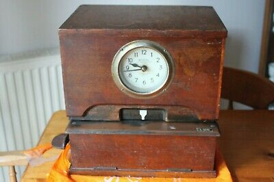 NATIONAL TIME RECORDER COMPANY Desk 'Job Timer' Stamp Model Clocking in Clock