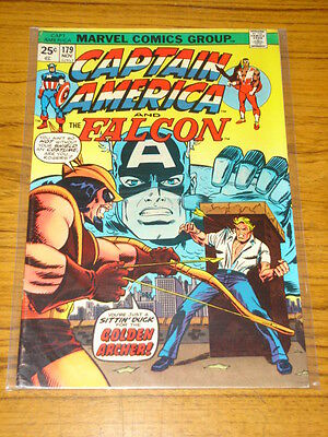 Captain America #179 Vg+ (4.5) Marvel Comics Falcon