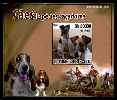 S.TOME EPREUVE DE LUXE HUNDE HUND DOGS DOG CHIENS CHIEN DELUXE SHEET dr40