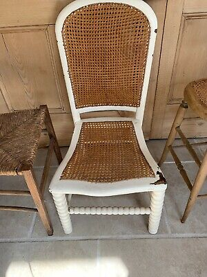Antique Caned Seat Chair Country Interiors Vintage Chic