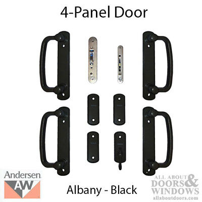 Andersen 9007545 Albany Sliding Double Door, 4 panel - Black