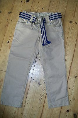 Tommy Hilfiger-boys beige trousers with belt.4y.Cotton.Worn once.