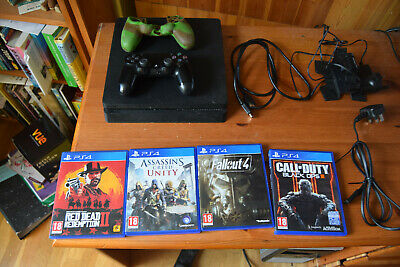 PS4 Slim Console 1TB Black, Rdr2, 3 other games included.