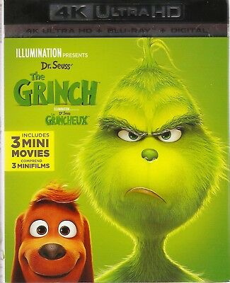 DR.SEUSS THE GRINCH 4K ULTRA HD & BLURAY & DIGITAL SET with Benedict Cumberbatch