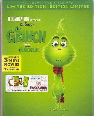 DR.SEUSS THE GRINCH BLURAY & DVD & DIGITAL LIMITED SET with Benedict Cumberbatch