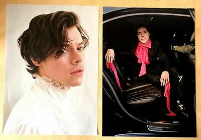 Rare 2017 Rolling Stone USA Magazine Original Art Portrait Pictures Harry Styles