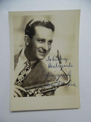 1946 SAM DONAHUE Swing Jazz Saxophonist Signed Inscribed Dated Photo Vintage VG