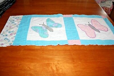 Vintage Cutter Quilt Piece Butterfly Applique Pillow or Craft Project Piece #1