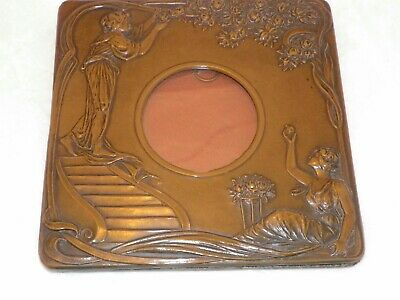 Arts And Crafts Art Nouveau Nouveau Antique Copper Photo Frame