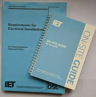 BS7671 18th Edition Blue Regs Book and & On Site Guide. Wiring Regulations