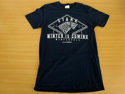 Official Game Of Thrones Stark Winter Is Coming Winterfell T-Shirt Size Small Hb
