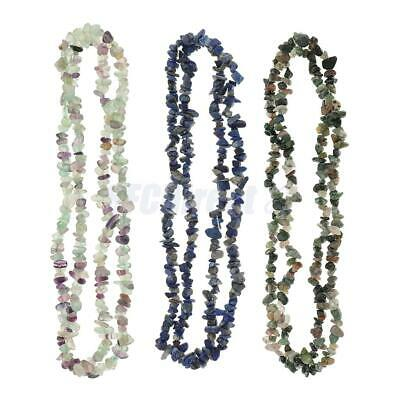 Natural Freeform Gemstone Chips Necklace Loose Spacer Beads for Jewelry Making